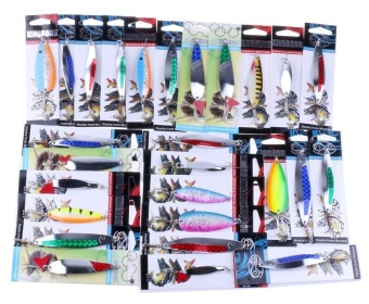Details about Fishing Lures Metal Spinner Baits Crankbait Assorted Fish Tackle - intl