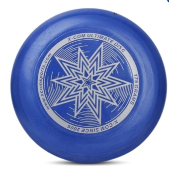 DFSP 175G PE Ultimate Disc Frisbee Flying Disc Competition StarPattern Deep Blue - intl