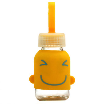 DHS Silicone Smiley Face Cup Yellow 145ml (Intl)