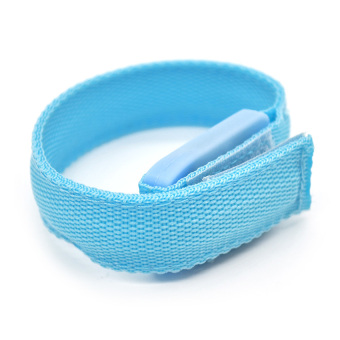 DHS Sports Safety LED Glowing Arm Band Belt Wrap Strap Running Cycling Blue - Intl