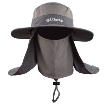 DISCOUNT!!! EGC Outdoor 360 sunscreen fisherman hat Multi-functional quick-drying cap Sun hat fishing cap on the spot(Grey) - intl