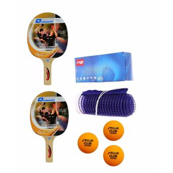 Donic Young Champs 100 Table Tennis Bat (2 piece set) with DHS 409Net and Stiga Club Trainer Ball (Orange)