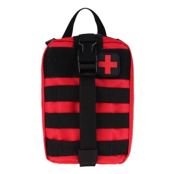 Durable Medical First Aid Cover Outdoor Emergency Package Travel Kit Bag(Red) - intl