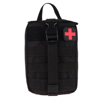Durable Medical First Aid Cover Outdoor Emergency Package TravelKit Bag(Black) - intl