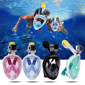 Easy Breath Full Dry Diving Full Face Mask Swimming Goggles for Gopro Camera L/XL
