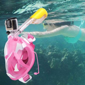 Easy Breath Full Dry Diving Full Face Mask Swimming Goggles for Gopro Camera L/XL - 2
