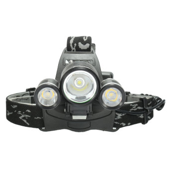 Elfeland 10000LM 3x XM-L2 LED T6 18650 Headlamp Headlight Head Torch Lamp - intl