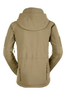 Esdy Soft Shell Military Windproof Jacket Khaki - 3