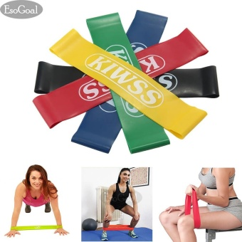 EsoGoal Resistance Loop Exercise 5 Workout Bands Set Stretch Pull Up Assist Band, Fitness for CrossFit Yoga and Physical Therapy (5 Pieces) - intl