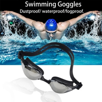EsoGoal Swim Goggles Swimming Anti Fog UV Protection Waterproof Diving Glasses with Case (Black) - intl
