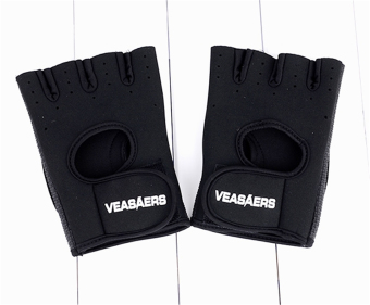ETOP Cycling GYM Half Finger Gloves Exercise Training (Black) - 3