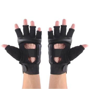 EVA Pad Taekwondo Hand Protector Gloves Karate Sparring Boxing Gear Black M - 5