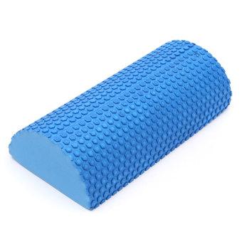 EVA Yoga Half Round Foam Roller (Blue)