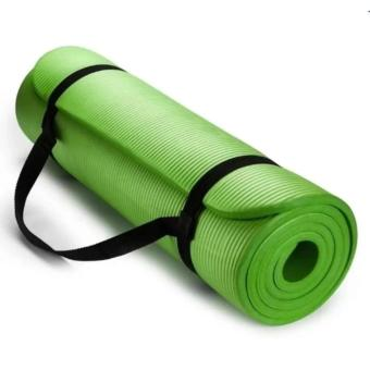 Extra Thick High Density Anti-Tear Exercise Yoga Mat with Carrying Strap 10mm - 4
