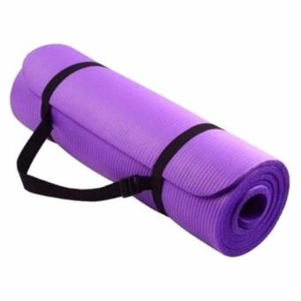 Extra Thick High Density Anti-Tear Exercise Yoga Mat with Carrying Strap 10mm - 3
