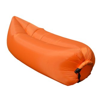 Fast Inflatable Banana Bed Airbed Sleeping Bed/Sofa (Orange)