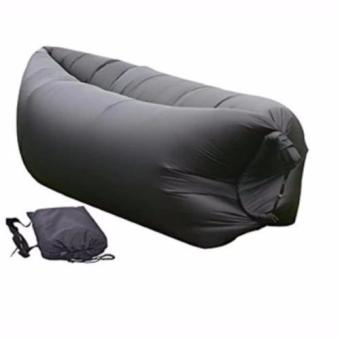 Fast inflatable Banana Bed , Sleeping bed, Air sofa (Black)