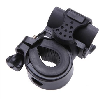 FFY Adjustable 360? Rotatable Cycling Grip Mount Bike Clamp ClipBicycle Flashlight LED Torch Light Holder - intl