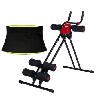 Finether AB Cruncher Abdominal Trainer Glider Machine VERSION 5.0(RED/BLACK) with Hot Shaper Belt