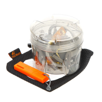 Fire Maple FMS-100T Super Lightweight Mini Titanium Split Stove with Flint & Bag for Outdoor Camping Picnic