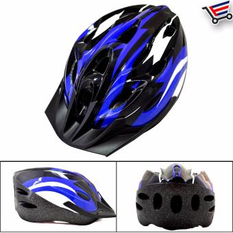 Fit Any MTB Cycling Bicycle Helmet (Blue/White/Black)