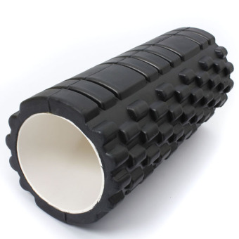 Fitness Direct Foam Roller Trigger Point Textured Massage Yoga Grid Black