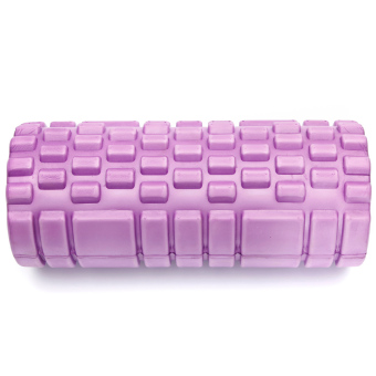 Fitness Direct Foam Roller Trigger Point Textured Massage Yoga Grid Purple - picture 2