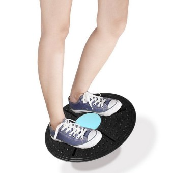 Fitness Equipment ABS Twist Boards Support 360 Degree RotationMassage Balance Board For Exercise And Physical Foot Massage - intl