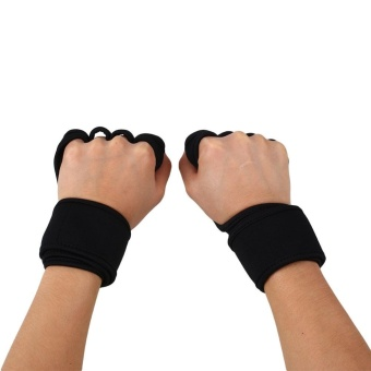 Fitness Weight Lifting Gloves Gym Workout Exercise Training Wrist Wrap Strap - intl