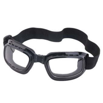 Foldable Anti Glare Polarized Windproof Goggles Anti Fog Glasses (Clear)