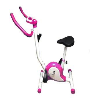Foldable Exercise Magnetic Spinner Bike (Pink)