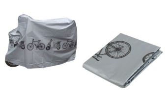 Fortress Motorcycle Bike Bicycle Waterproof Nylon Dust and RainCover-Grey Price Philippines