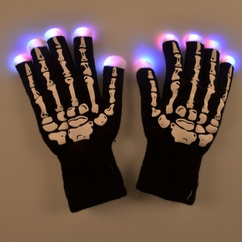 FP skeleton LED light-emitting gloves gloves cycling gloveChristmas products Halloween - intl
