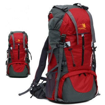 Free Knight 60L Outdoor Backpack for Hiking & Camping HikingBackpacks(Red)