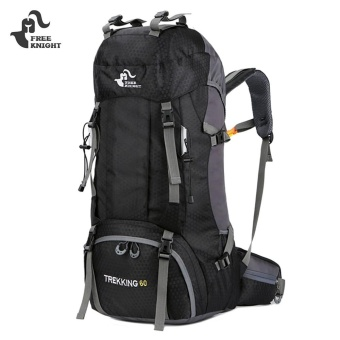 FREEKNIGHT FK0395 60L Water Resistant Hiking Backpack With Rain Cover (Black) - intl Price Philippines