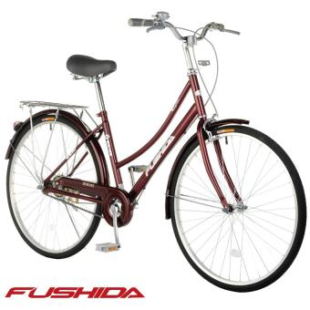 Fushida TS 26 x 1-3/8 City Cruiser Bike (Gloss Pearlized Maroon)