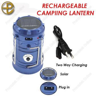 G-85 6 LED Solar Camping Lamp Rechargeable Lantern (Blue)