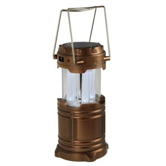 G-85 6 LED Solar Camping Lamp Rechargeable Lantern (Gold)