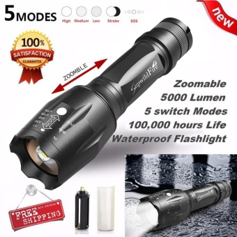 G700 Flashlight 5000lm BRIGHT X800 Tactical LED Military ShadowHawk Design - intl