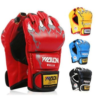 Gants de boxe Gloves Half-finger Sandbag Fighting Boxing Gloves(Red) - intl