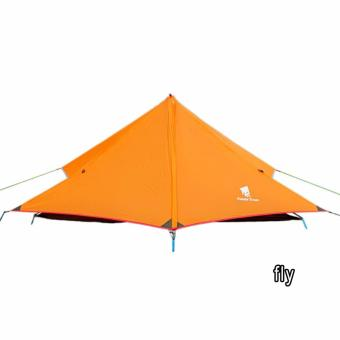 GEERTOP 1-person Ultra-light Fly Tent Sunshade Rain Shelter ForCamping Backpacking Hiking Climbing (Pole NOT included) - Orange,fly - intl