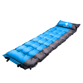 GEERTOP Self-Inflating Camp Pad Mat Mattress With Pillow 5cm ExtraThick Lightweight - For Camping Backpacking Tents - Can be SPLICED- Blue - intl