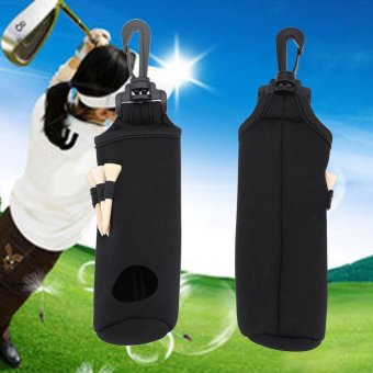 Golf Ball Bag Holder Utility Pouch Accessories With Clip (Black) -intl - 3