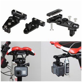 GUB 619 Bike Bicycle Seatpost Camera Mount Holder Extra AdjustableArm Tripods For Gopro Hero Xiaomi Yi With Gas Cylinder Mount - intl Price Philippines