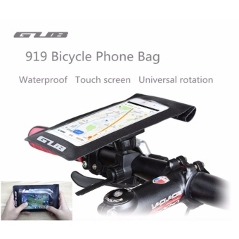 GUB 919 Bicycle Phone Bag Case Waterproof Touch Screen Cycling MTBMountain Bike Frame Front Tube Bag For 6 inch Mobile Phone - intl