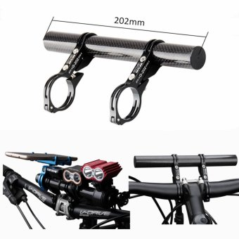 GUB G-202 Extended 31.8 25.4 22.2mm Road Bicycle Bike DoubleHandlebar Extension Mount Carbon Fiber Extender Light Lamp Holder -intl Price Philippines