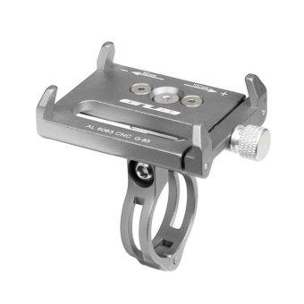 GUB G-85 Metal Bike Bicycle Holder Motorcycle Handle Phone Mount Handlebar Extender Phone Holder For iPhone Cellphone GPS Etc SILVER - intl - 2