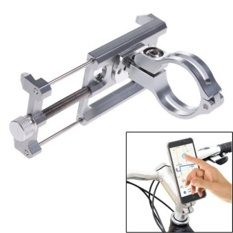 GUB G-85 Metal Bike Bicycle Holder Motorcycle Handle Phone Mount Handlebar Extender Phone Holder For iPhone Cellphone GPS Etc SILVER - intl