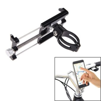 GUB G-85 Metal Bike Bicycle Holder Motorcycle Handle Phone MountHandlebar Extender Phone Holder For iPhone Cellphone GPS Etc BLACK- intl Price Philippines