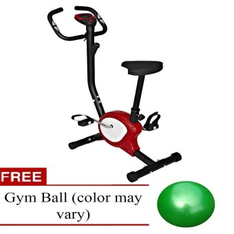 Gym Master Stationary Bike (Red) with Free Gym Ball Plus free 1unique Phone ring stand